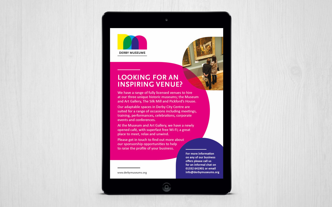 Marketing for Derby Museums by Doe Design
