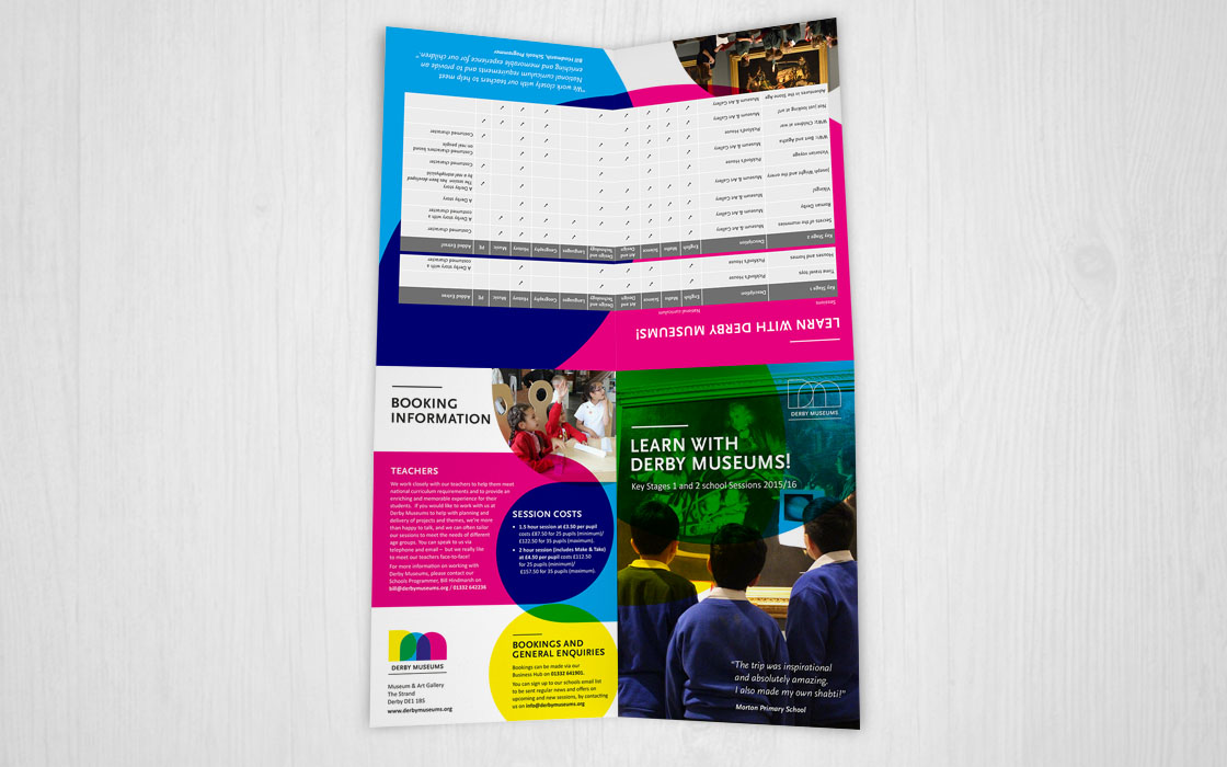 Direct Mail for Derby Museums by Doe Design