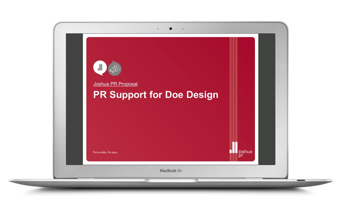 Joshua PR - brand developmet by Doe Design